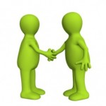 2 people networking face to face