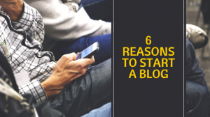 6 reasons to start a blog image